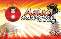 Asian Connection $10 - International Calling Cards