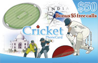 Cricket Phone Card $50 - International Calling Cards