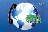 Hello World Phone Card $20 - International Calling Cards