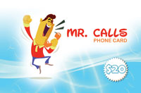 Mr Calls Phone Card $20 - International Calling Cards