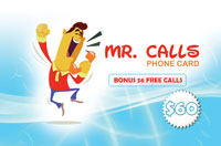 Mr Calls Phone Card $60 - International Calling Cards