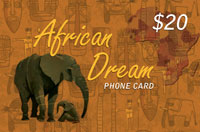 African Dream $20 - International Calling Cards