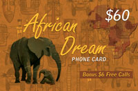 African Dream $60 - International Calling Cards